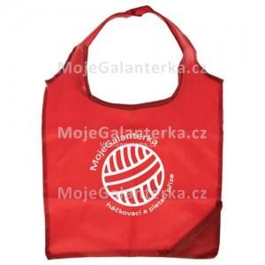 Nákupní taška, skládací, MojeGalanterka, červená