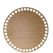 Dno z překližky, kruh, 17cm, dub