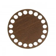 Dno z překližky, kruh, 10cm, walnut