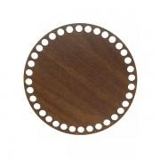 Dno z překližky, kruh, 15cm, walnut