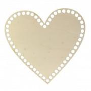 Dno z překližky, srdce, 20x19cm, topol