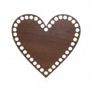 Dno z překližky, srdce, 15x14cm, walnut