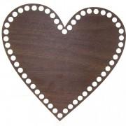 Dno z překližky, srdce, 20x19cm, walnut
