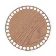 Dno z překližky, kruh, 15cm (36děr), dekor dub