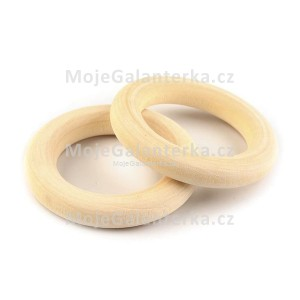Kroužek dřevěný, Ø25 mm (1ks)