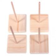 Stojánek dřevěný, na háčkované dekorace (1ks)