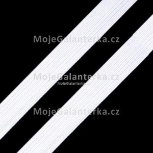 Prádlová pruženka, guma šíře 11 mm, bílá