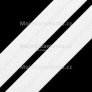 Lemovací pruženka, půlená, šíře 19 mm, bílá