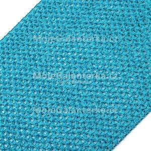 Pruženka síťovaná, šíře 24-25 cm, tutu, tyrkysová