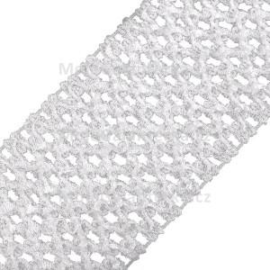 Pruženka síťovaná, šíře 7 cm, tutu, bílá