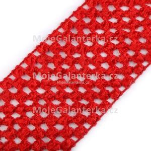 Pruženka síťovaná, šíře 7 cm, tutu, červená