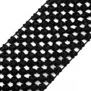 Pruženka síťovaná, šíře 7 cm, tutu, černá