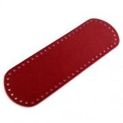 Dno na kabelku, 10x30 cm, červená tmavá