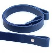 Popruh kožený, 60cm, HANDMADE, modrý
