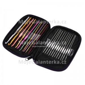 Háčky háčkovací 0,5 - 6,5 mm, tmavé pouzdro, sada (22ks)