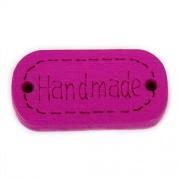 Knoflík dřevěný, handmade, 24x12mm, fialový