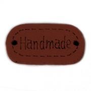 Knoflík dřevěný, handmade, 24x12mm, hnědý