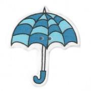 Knoflík dřevěný, deštník, 3cm, č.13