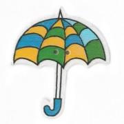 Knoflík dřevěný, deštník, 3cm, č.15