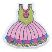 Knoflík dřevěný, šaty, 29x30mm, ST05