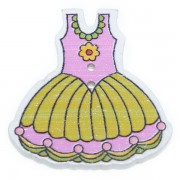 Knoflík dřevěný, šaty, 29x30mm, ST06
