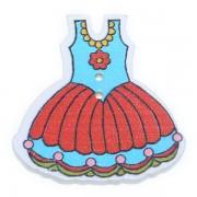 Knoflík dřevěný, šaty, 29x30mm, ST09