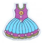 Knoflík dřevěný, šaty, 29x30mm, ST10