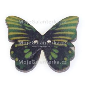 Knoflík dřevěný, motýl, 19x25mm, ST01