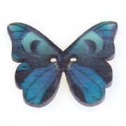 Knoflík dřevěný, motýl, 19x25mm, ST03