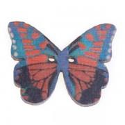 Knoflík dřevěný, motýl, 19x25mm, ST05