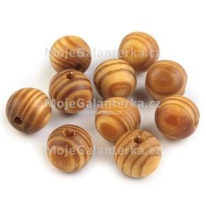 Korálky dřevěné 16mm, Strip, olše (hnědé)