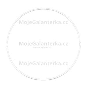 Kovový kruh na lapač snů, k dekorování Ø25 cm, bílý