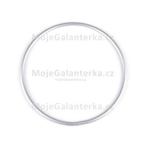 Kovový kruh na lapač snů, k dekorování Ø15 cm, stříbrný