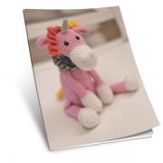 Návod na háčkovanou hračku: Jednorožec Corny (růžový)