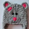 Návod na háčkovanou čepici Medvídek, šedý