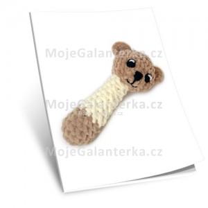 Návod na háčkované Hrkátko medvídek, 16cm