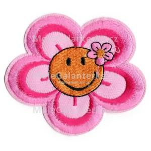 Nažehlovačka, květina, růžová