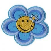Nažehlovačka, květina, modrá