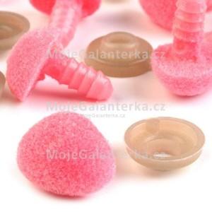 Bezpečnostní nos, čumáček 14mm, sametový růžový (1ks)