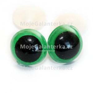 Bezpečnostní oči 10mm, barevné zelené (1pár), 2.jak
