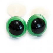 Bezpečnostní oči 14mm, barevné zelené (1pár)