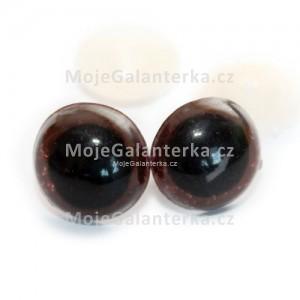 Bezpečnostní oči 14mm, barevné hnědé (1pár)