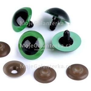 Bezpečnostní oči 26mm, zelené
