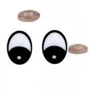 Oči bezpečnostní, 16x21 mm, černé (1pár)
