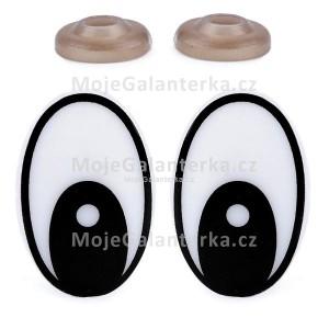 Oči bezpečnostní, 19x29 mm, černé (1pár)