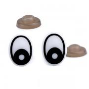 Oči bezpečnostní, 12x16 mm, černé (1pár)