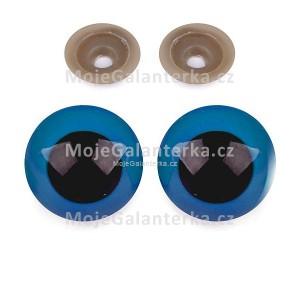 Bezpečnostní oči 30mm, modré (1pár)
