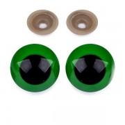 Bezpečnostní oči 30mm, zelené (1pár)