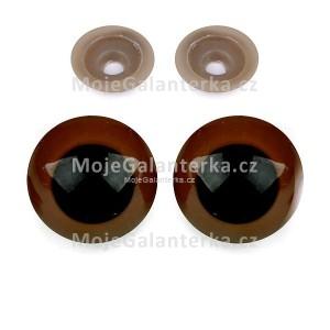 Bezpečnostní oči 30mm, hnědé (1pár)
