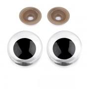 Bezpečnostní oči 30mm, transparent (1pár)